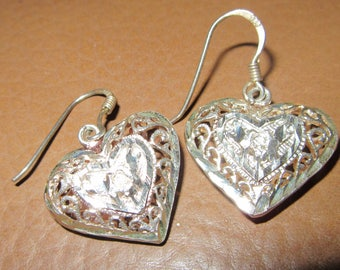 925 SILVER HEART EARRINGS
