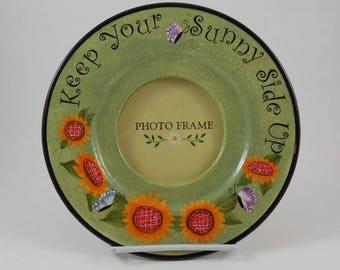 Sunflowers Photo Frame Plate