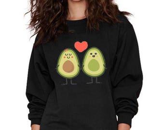 Avocado Sweatshirt, Yoga Style Sweatshirt, Funny Women Sweatshirt, Valentine's Day Sweatshirt, Single Sweatshirt