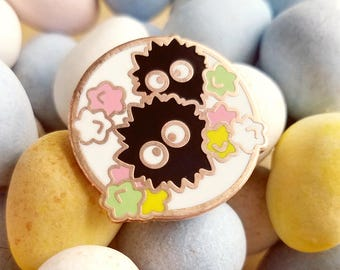 Soot Circle Pin | Ghibli Inspired | Spring Enamel Pin