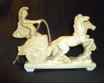 Santini Statue of Roman Chariot with two horses