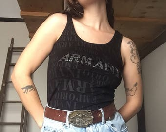 Armani Bling Tank Singlet