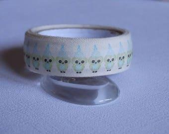 Fabric tape/Ribbon fabric tape OWL