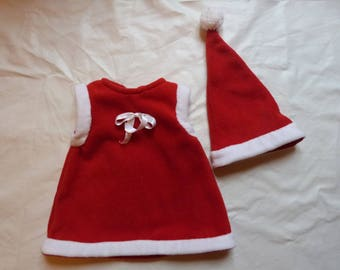 Christmas Baby hat and dress