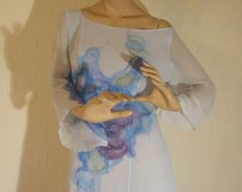 Hand-painted silk georgette Dress