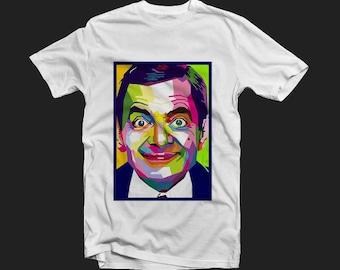 Printed t-shirt Mr. Bean, man's t-shirt, custom t-shirt, pop-art t-shirt.
