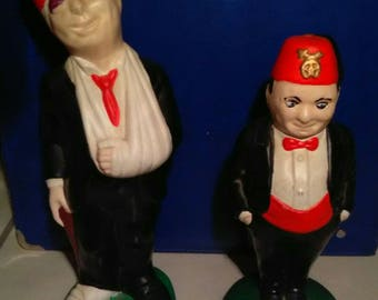 1950s Shriners/Freemason Ceramic Figures