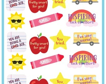 DOWNLOAD - Passive Aggressive Praise Sticker or Decal Designs for Teachers - Joke Gift!