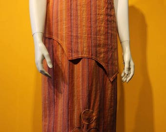 """Rainbow"" cotton orange striped dress size 38 and 40"