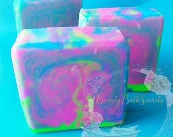 neon rave Soap