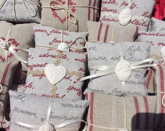 Lavender sachet, very fragrant, with square or box