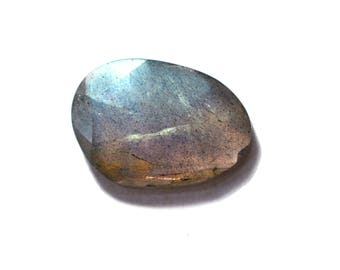 Labradorite Natural Labradorite Rose Cut Polki Both Side Faceted 3.95 cts 11x15 mm For Designer Jewelry 3946