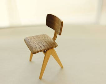 Mid Century Chair Based On The Hillestack Chair. Handmade In 1:12 Scale