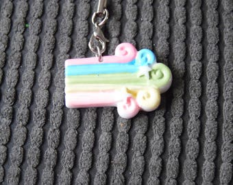 Kawaii Rainbow Woosh Planner Charm