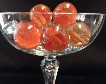 Peach Glass Marbles