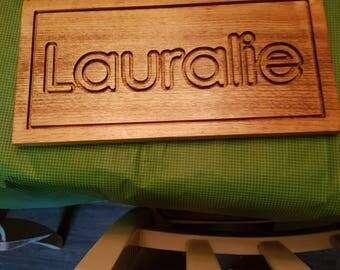 Personalised door name frame