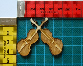 violin wooden Littles 1549 embellishment