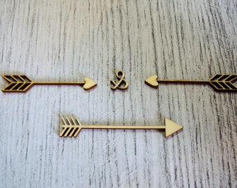 Set of arrows 1313 embellishment wooden creations