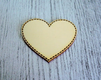 1077 heart cut out wood for your creation