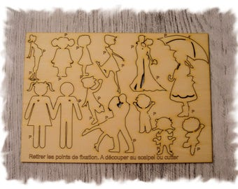 P18 characters for creating your wooden cutting board