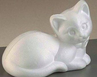 Cat type 3d styrofoam Christmas day animal decor