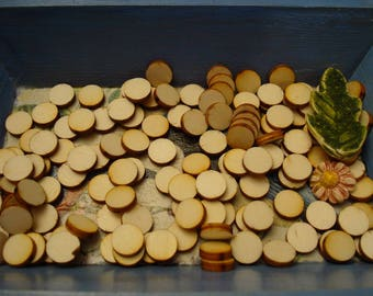 Circle sizes of wood for your creations for scrapbooking