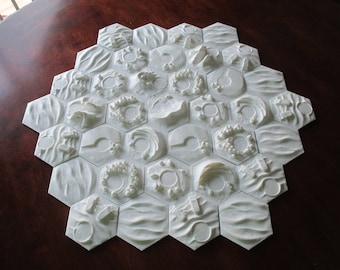 3D Plastic Catan Board, Unpainted