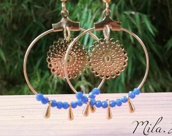 Royal Blue hoop earrings