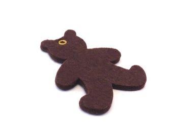 Brown bear felt pattern