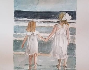 Beach Water Color Portraits