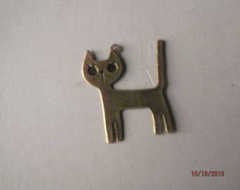 1 adorable cat pendant bronze 45 x 37 mm
