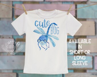 Cute As a Bug Kids Shirt, Funny Kids Shirt, Cute Kids Shirt, Cute Bug Tee, Hipster Boys Tee, Boho Kids Shirt, Boys Shirt - T338C