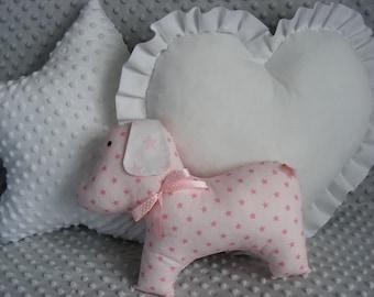 3 PCS SET star,dog,heart, cushions,pillow,pink,gray,blue,mint,baby,girl,boy,cute,gift,gift idea,birthday,kids room,