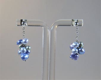 earrings freshwater pearl sterling silver