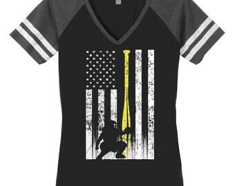 Softball mom shirt, Custom softball shirt, softball, Favorite player, custom shirt, softball flag tank, softball flag, softball catcher