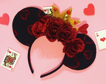Alice in Wonderland Queen of Hearts Mickey Ears