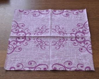 Pink baroque towel
