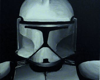 Painting Star Wars CLONE TROOPER by VALkYE 40x40cm