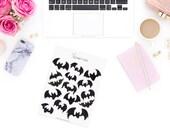 Shadow Bats Stickerset-Watercolour sticker-Pretty planning-scrapbooking-bullet journaling