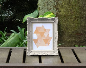 Peach Triangles Abstract Art Print Instant Download Printable Geometric Geo