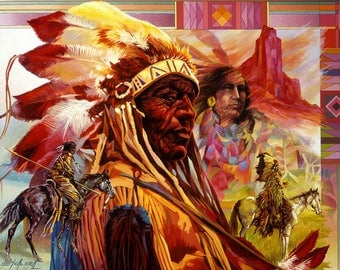 Great American Chief // Giclee on Canvas