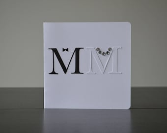 M & M, Wedding Card