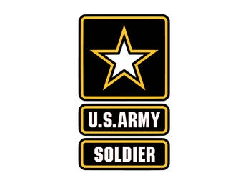 US Soldier SVG and Studio 3 Cut File Decal Cut Files Logo Military Silhouette Cricut Decals Cuts Logos United States of America Army