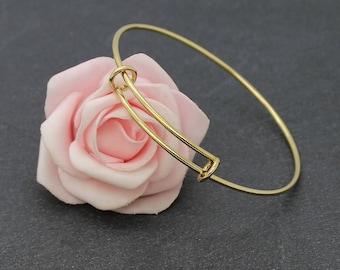 A Bangle bracelet stainless steel gold BA14 21 cm