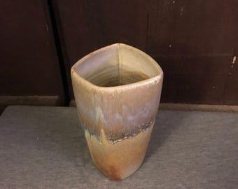 Woodfired ecru vase