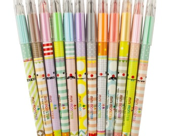 12 Pack Of Gel Pens Various Colours Stationery School Art Drawing Children Kids