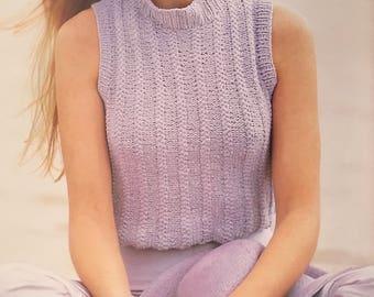 PDF Knit Braided-Rib Crop Top (EASY)