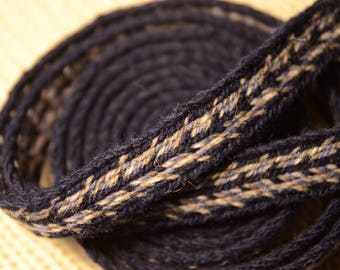 Tablet woven belt/band. Traditional Folk Belt. Can be used as a trim, strap, headband or a belt / 20 mm handwoven strap / Medieval art