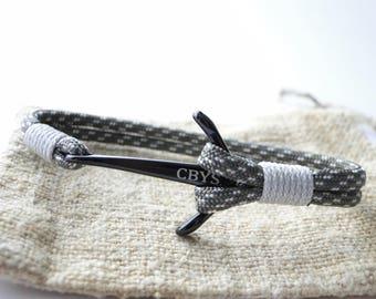 """Black Anchor/""""Military Camo"""" Paracord 550 Nautical Bracelet – CBYS"""