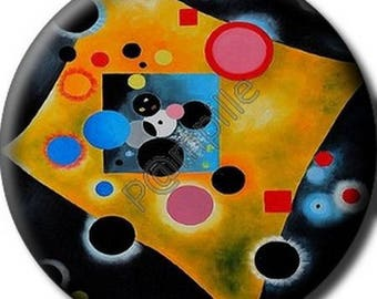 Cabochon resin 25 mm - Kandinsky painting - (706) stick